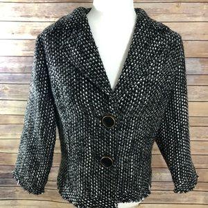 Cabi tweed jacket black and white size medium